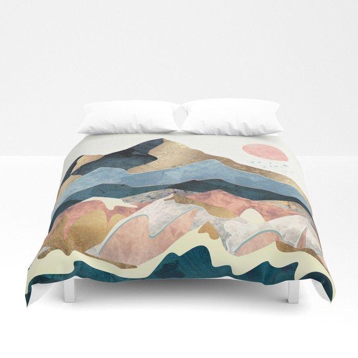 Buy Golden Peaks Duvet Cover By Spacefrogdesigns Worldwide