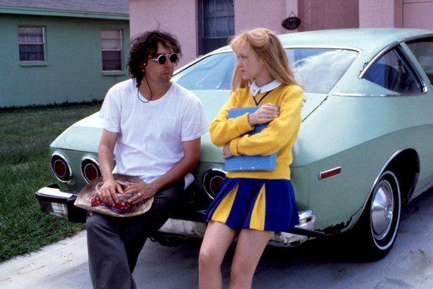 Tim Burton and Winona Ryder on the set of Edward Scissorhands (1990)