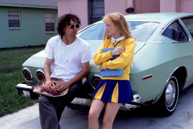Tim Burton and Winona Ryder on the set of Edward Scissorhands (1990)