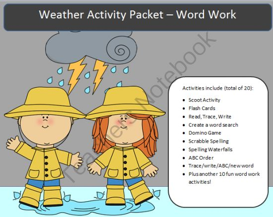weather spelling packet 38 pages of word work from spellingpackets com on teachersnotebook. Black Bedroom Furniture Sets. Home Design Ideas