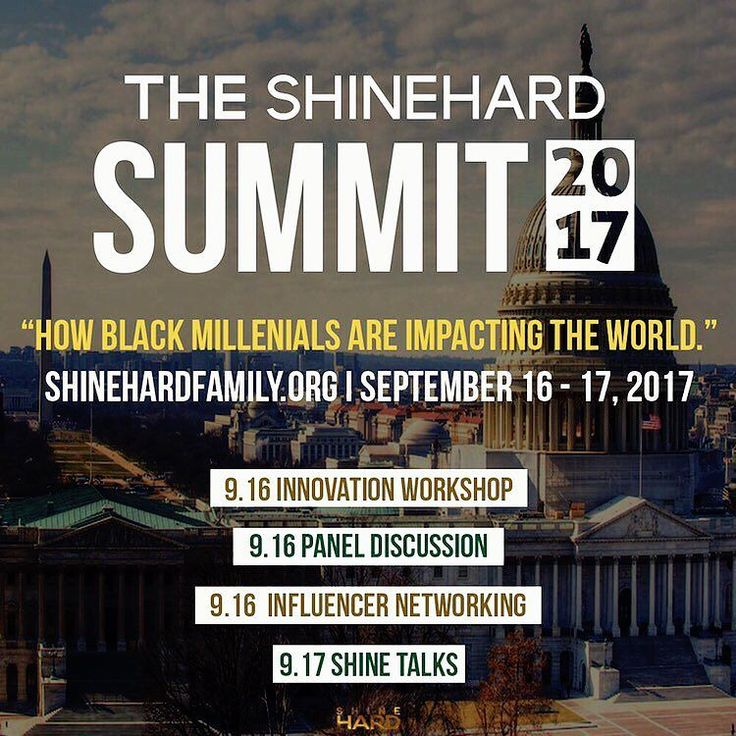 Are you passionate about career advancement and black excellence?  The @ShineHardFam Summit was created specifically for YOU.  : http://ift.tt/2iz3ufu  use code SHINETALKS1  STUDENTS ARE FREE w/ ID. Send name and school to info@ShineHardFamily.org