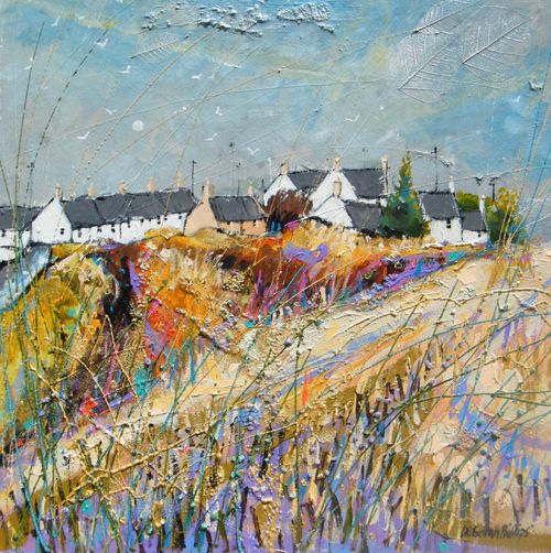 Auchmithie Paper Moon ~ Deborah Phillips, Contemporary Scottish Artist