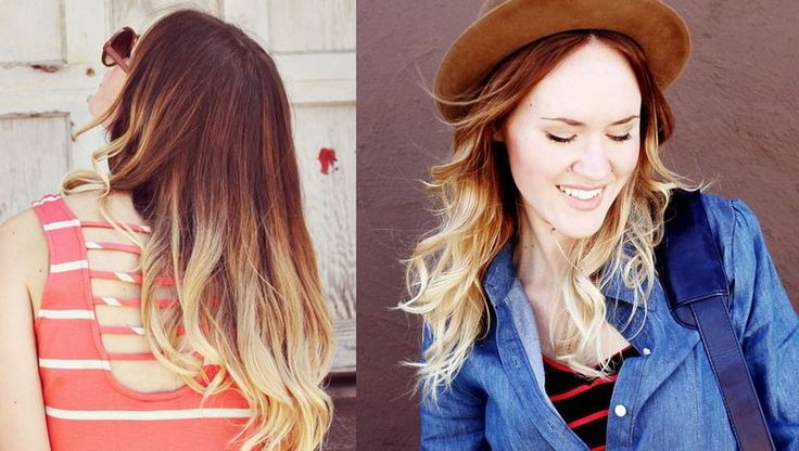 Ombre/baliage - love how light the ends are, think mine will be like that next time!