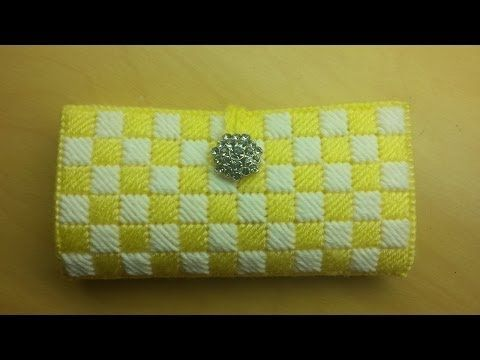 #Crochet/plastic canvas #wallet clutch #TUTORIAL - YouTube