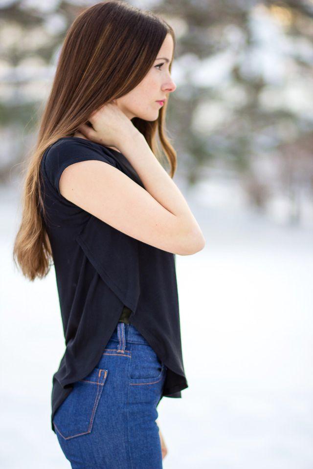DIY: side split top - could be great for nursing...