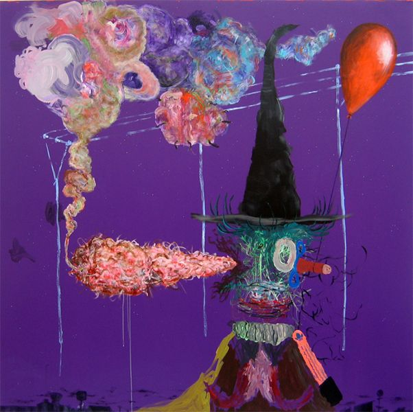 Gorka Mohamed One Dimensional Antichrist [2008] 190x190cm Acrylic on linen