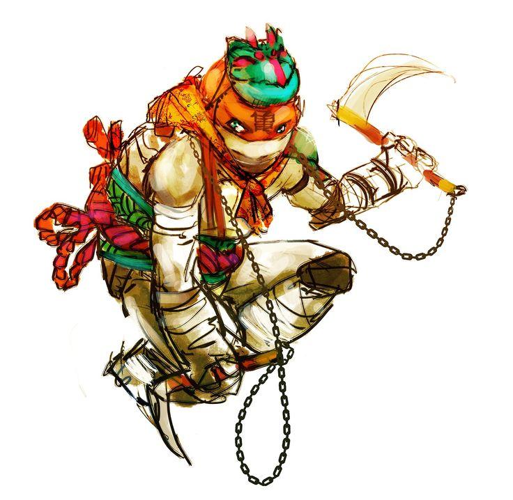 Leonardo, Donatello, Raphael and Michelangelo....   Work hard. Render fast. And breathe.