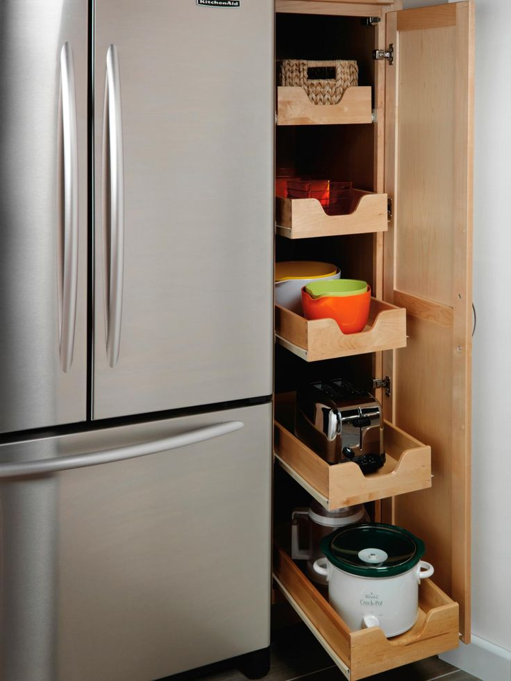 pictures of kitchen pantry options and ideas for efficient storage - Small Kitchen Design Pinterest