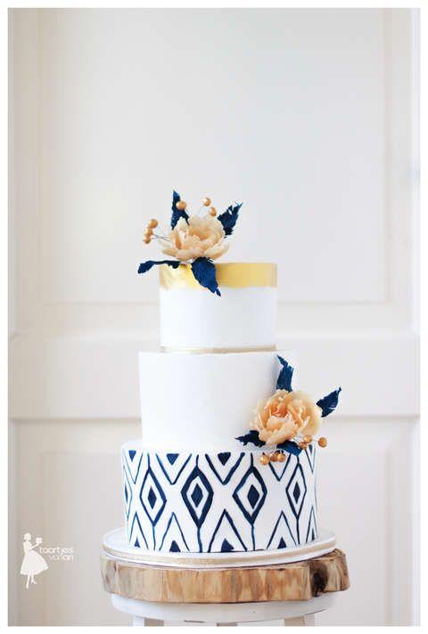 Taartjes-van-An-bruidstaart-nunspeet-taart-nunspeet-bruidstaart-harderwijk-bruidstaart-blauw-bruidstaart-kampen-bruidstaart-ermelo-bruidstaart-elburg- weddingcake handpainted wedding cake marine wedding cake blue and peach