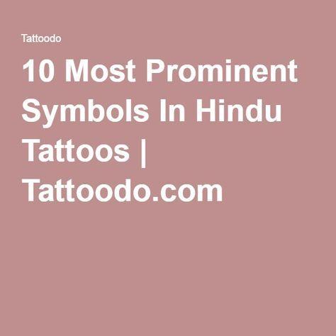 10 Most Prominent Symbols In Hindu Tattoos | Tattoodo.com