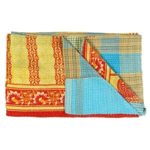 Vintage Sari Throw Siolim now featured on Fab.