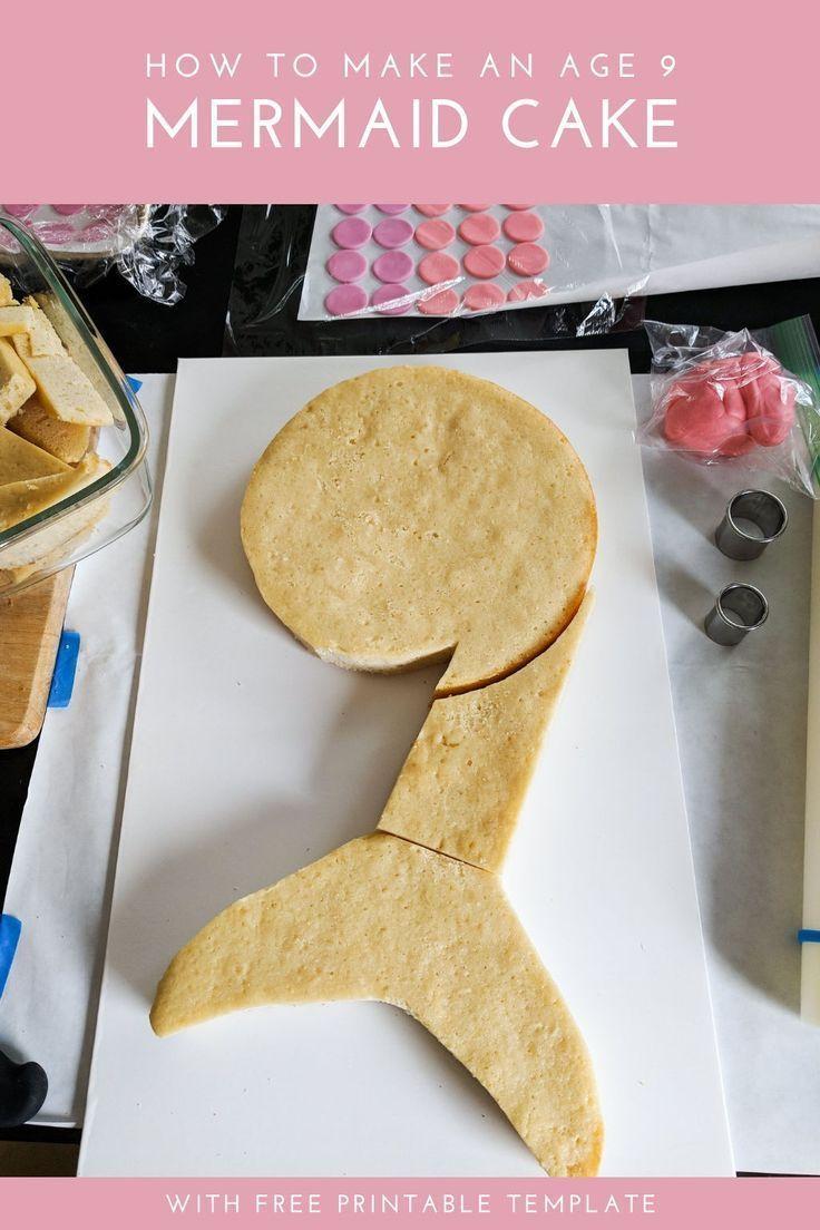 Kuchenidee ab 9 Jahren: Meerjungfrauenschwanzkuchen. Diese einfache 9. Geburtstagstorte erfordert keine …   – Cakes