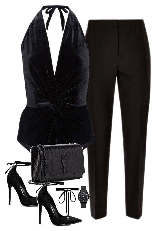"""Untitled #2871"" by theaverageauburn on Polyvore featuring Jaeger, Karla Colletto, Yves Saint Laurent and Joomi Lim"