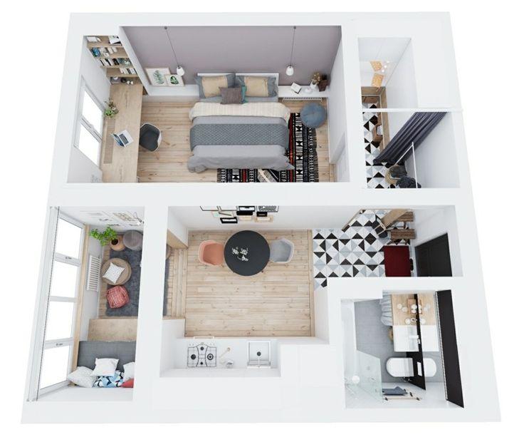 Die besten 25+ Kleine wohnungen optisch vergrößern Ideen auf ...