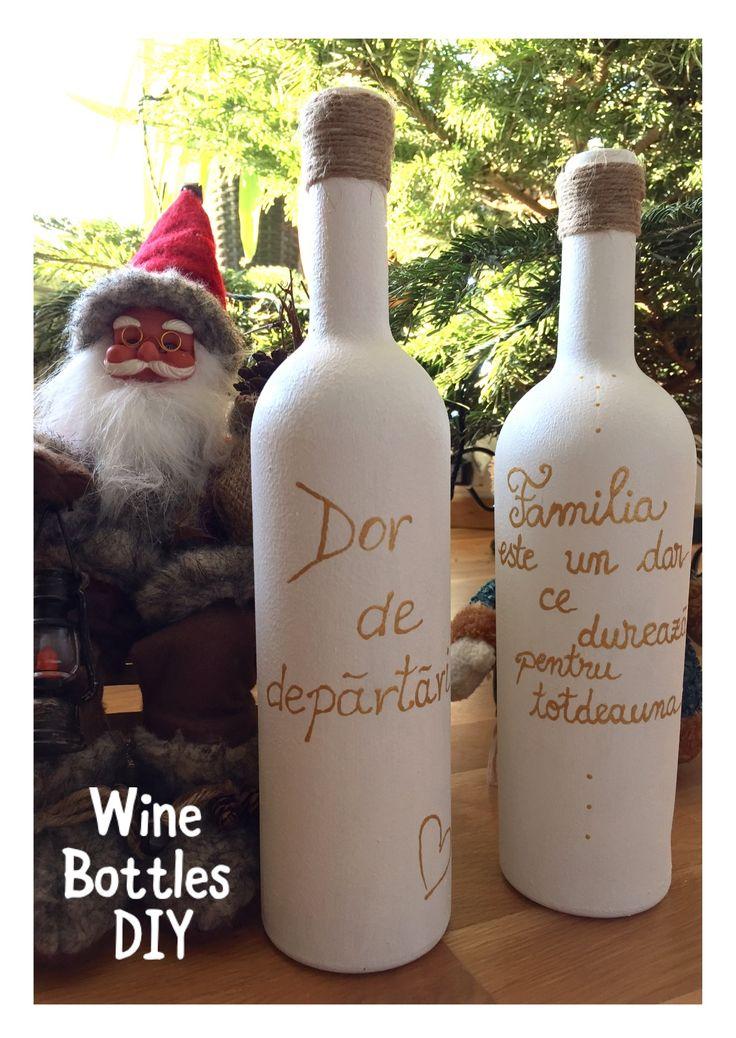 http://soimaliana.blogspot.ro/2016/12/wine-bottles-diy_31.html?m=1 #winebottlesdiy #christmasdecorations