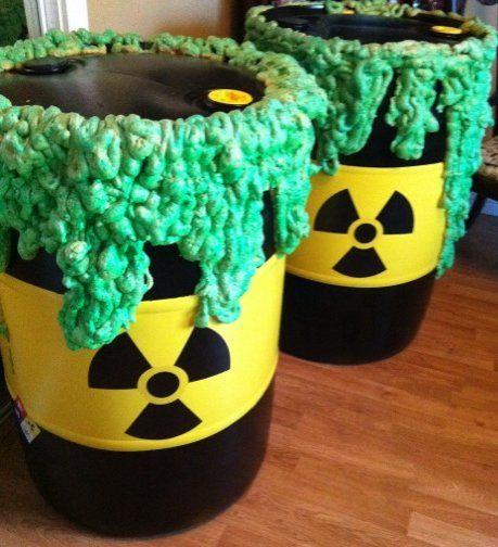 Halloween Barrel Prop
