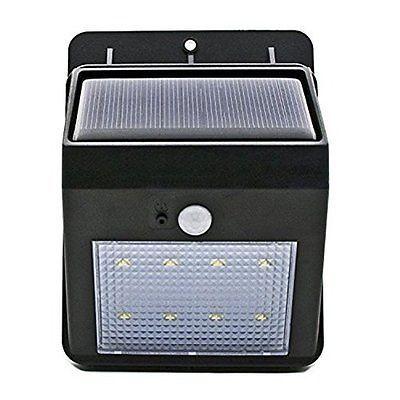 COZYSWAN Solar Powered Light 8 LED Security Motion Sensor Detector Light Outdoor