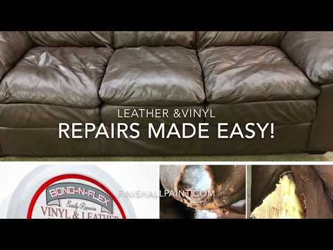 Bond N Flex Kit Finish All In One Paint Vinyl Repair Leather Couch Repair Leather Repair