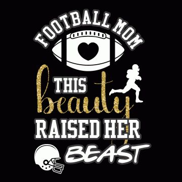 This Beauty - Football Mom Shirt