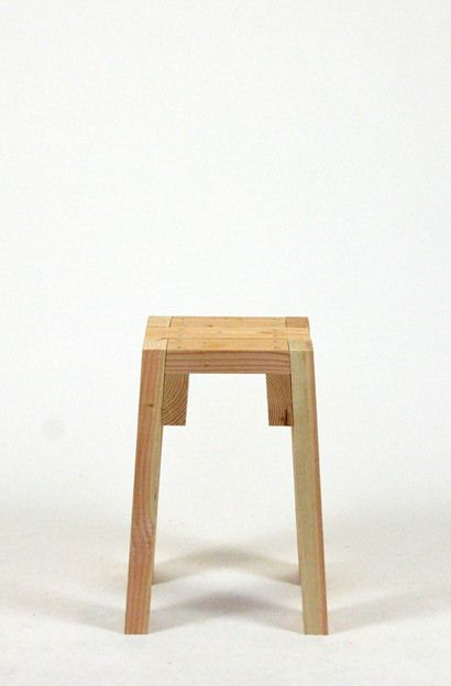 STOOLS   front view Modern furniture from common lumber by Sander Viegers 253 best stool images on Pinterest   Chairs  Furniture and Stools. Garage Chairs Stools. Home Design Ideas