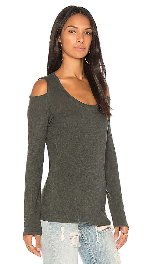 0fed4d7a62dc3 Lanston Cold Shoulder Top in Sycamore
