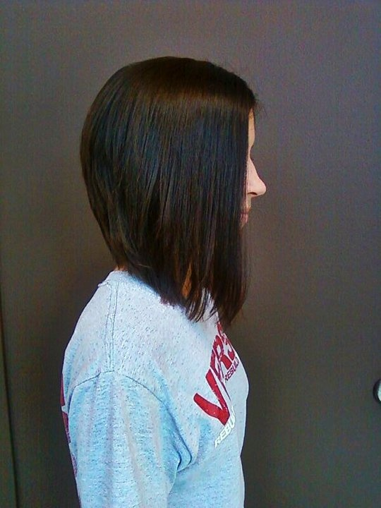Long Version Angled Bob With Side Bangs Fashion Amp Beauty