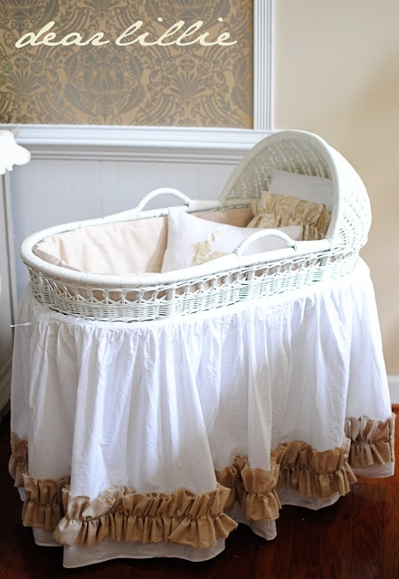 1000 Images About Bassinet Makeover On Pinterest Shabby Chic Baby Skirt Tutorial And Mattress