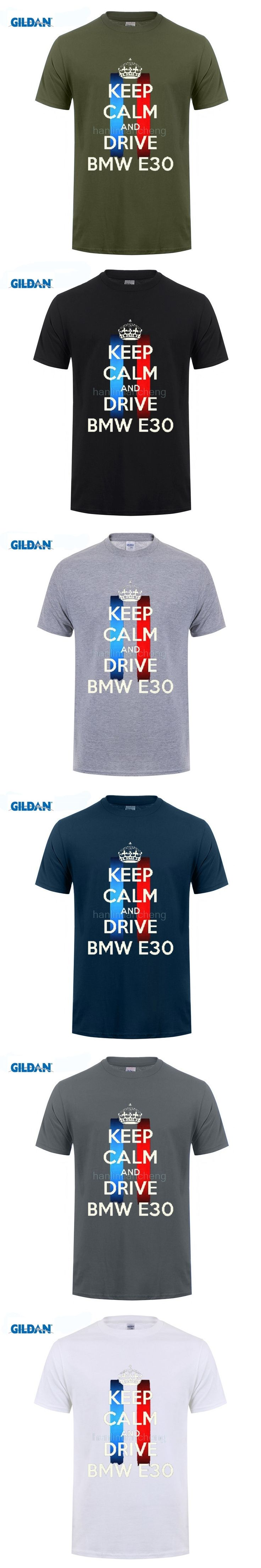 GILDAN 100% Cotton O-Neck customised T-shirt  New Keep Calm and Drive a BMW X5 M3 M5 Funny Men's Black T Shirts