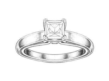 Diamond Ring Drawing Realistic 15270 Applestory