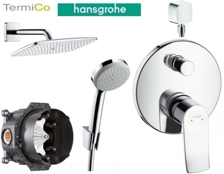 Hansgrohe Metris E2 komplet prysznicowy podtynkowy z deszczownicą ścienną E360 Nr.katalogowy: HGR/METRIS E2/E360