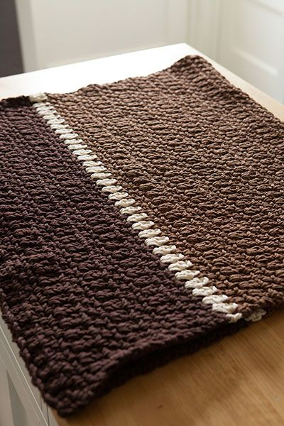 Knit Rug Pattern : 10 Best images about Crochet & Knit Rugs on Pinterest Trapillo, Round r...