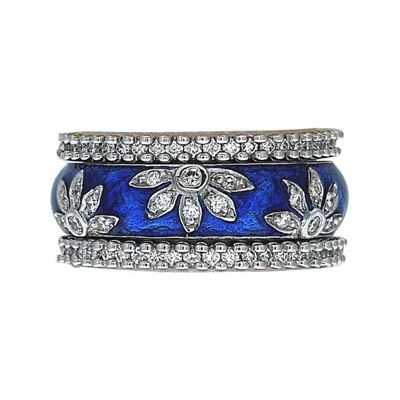 Hidalgo Stackable Rings Flowers Collection Set (RS6040 & RN2006) - Hidalgo Jewelry