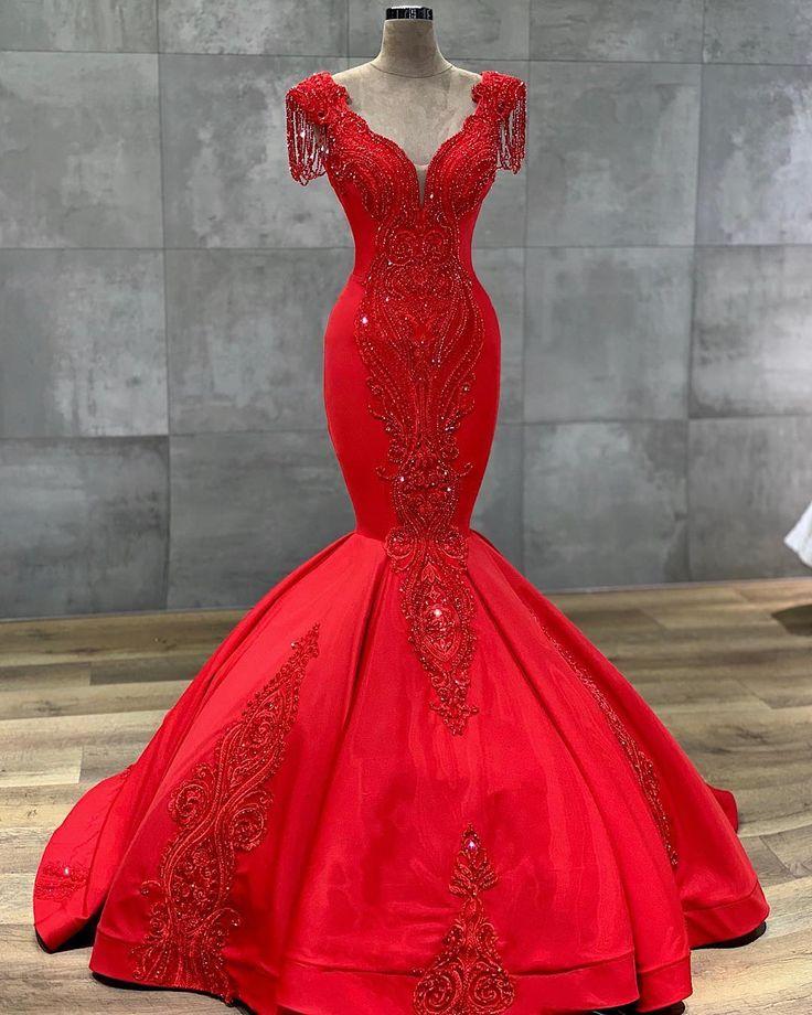 luxus rote abendkleider lang  abiballkleider bodenlang