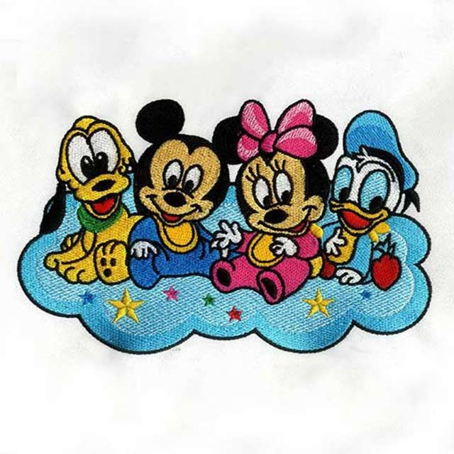 Digitizing Service Blissful Baby Disney Characters Embroidery Design