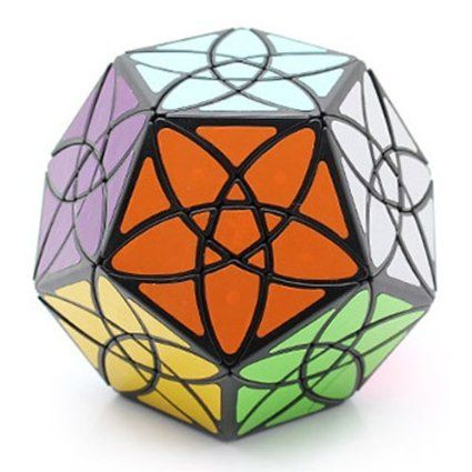 Mf8 Bauhinia Black Dodecahedron 12 Sided Puzzle Cube Twisty Toy