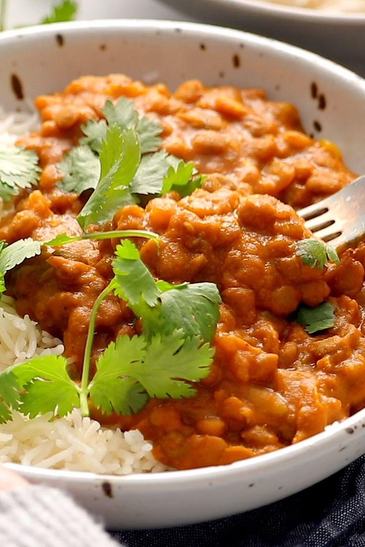 Lenticchie rosse al curry con vaso istantaneo