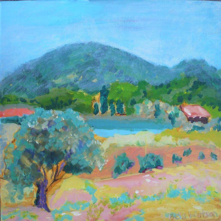 Tzanata valley, Kefallonia by Annabel Watson