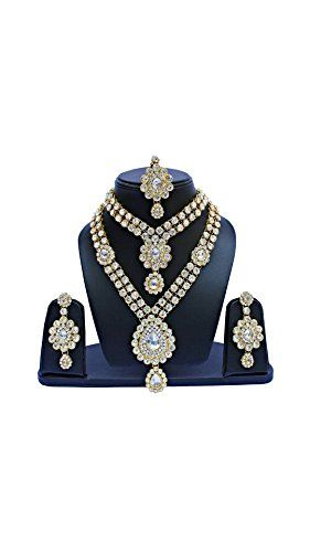 Dazzling Bridal Indian Bollywood kundan Wedding Wear Gold... https://www.amazon.com/dp/B071NDJJHP/ref=cm_sw_r_pi_dp_x_rxE.ybXPNHRNC