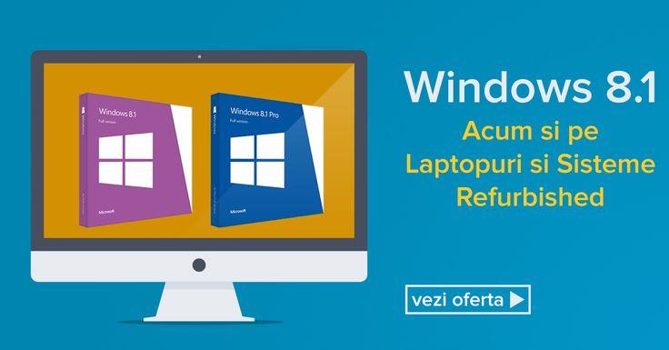 Acum, Windows 8.1 la calculatoarele si laptopurile refurbished din oferta noastra. https://www.interlink.ro/calculatoare-refurbished/