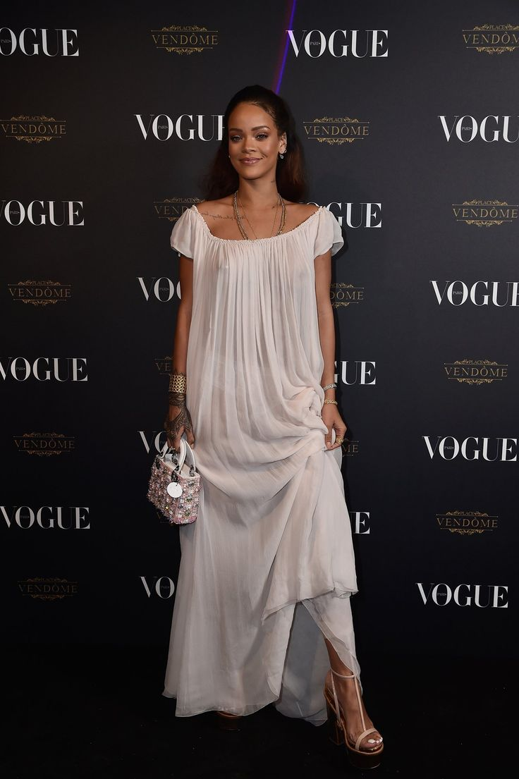Attending the Vogue 95th anniversary party on October 3, 2015