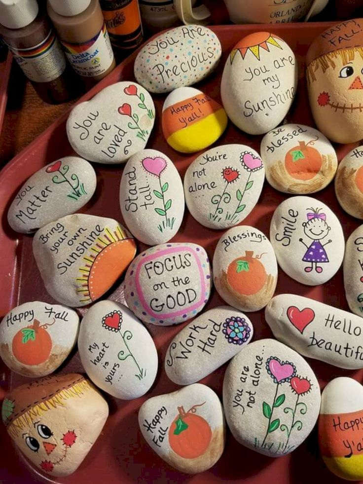 Creative ideas for painted rocks for garden 64