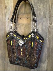 Diamond 57 One of a kind Cowboy Boot purse