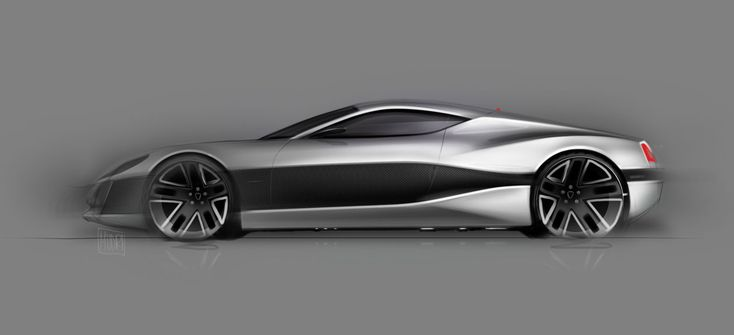 Rimac Concept One - Design Sketch - Car Body Design