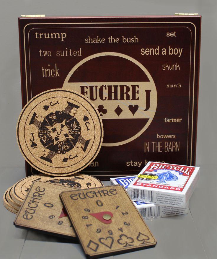 Executive style euchre card game box set card game game