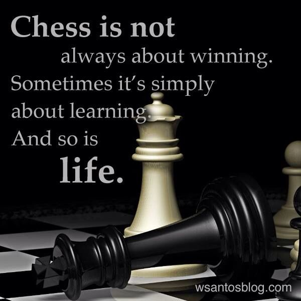 """Looking Glass: """"#Chess is not always about winning. Sometimes, it's simply about learning. And so is life."""""""