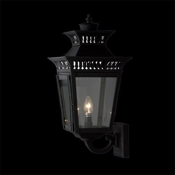 A stylish black wall lantern that could be installed in traditional, Japanese inspired or Hamptons themed spaces.  Dimensions H: 380mm W: 244mm P: 250mm  Finishes Black  Globe 240V Candle 1 x 40W (not included)