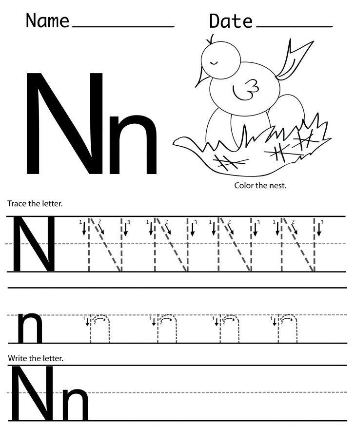 Letter N Worksheets For Preschool Kindergarten Printable
