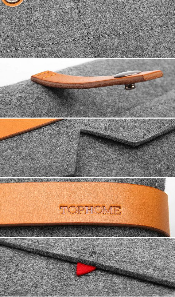 Macbook Pro 13 Retina case Wool Felt Macbook Sleeve por TopHome