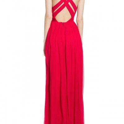 Mango robe rouge 2018