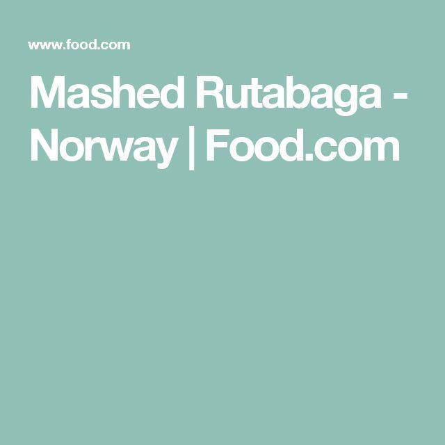 Mashed Rutabaga - Norway | Food.com